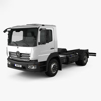 Mercedes-Benz Atego S-Cab Chassis Truck 2013