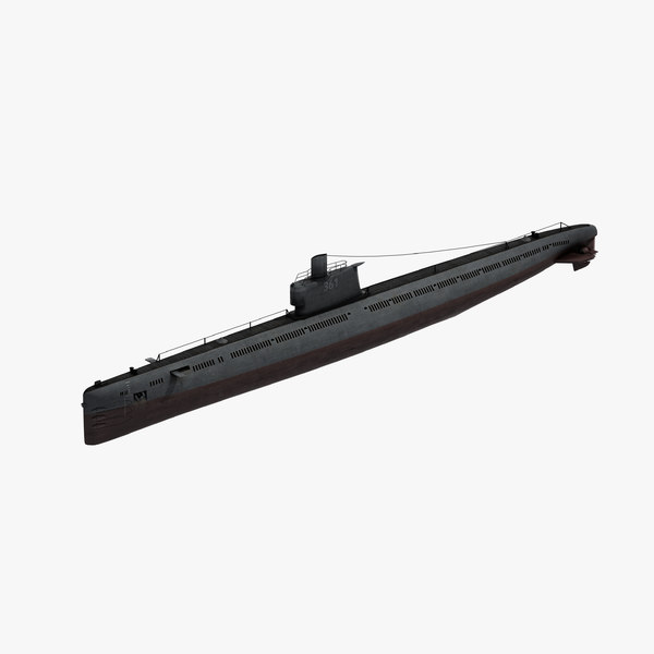 3D ming class attack submarine