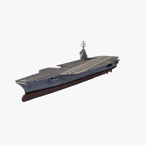 3D uss f aircraft carrier model