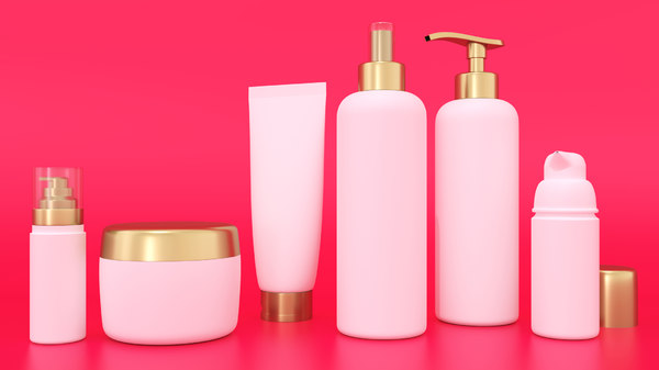 cosmetic bottles 3D