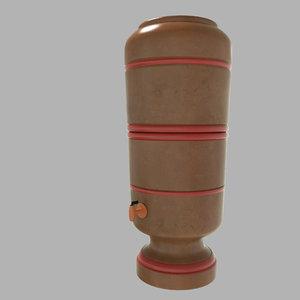 3D ceramic water filter model