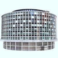 3D building hotel
