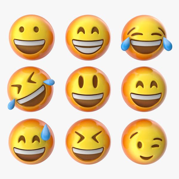 emoji pack 1 1-9 3D model