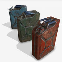 3D jerrycan pbr 3 color model