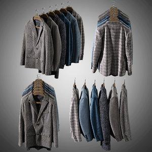 mens jackets 3D model