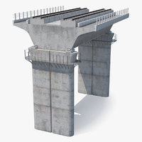 3D rail bridge section model