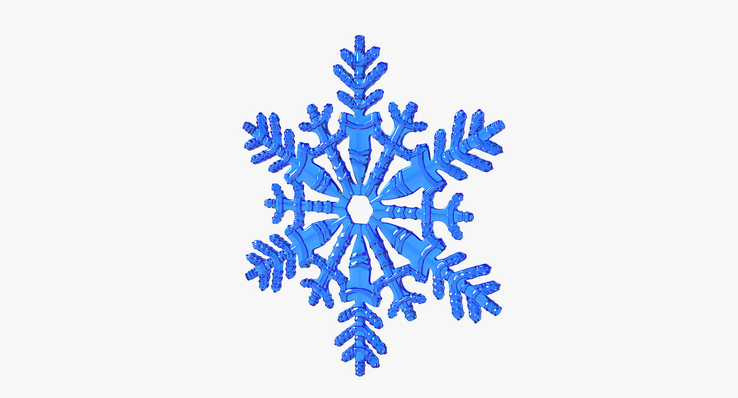 realistic snowflake 11 3D model