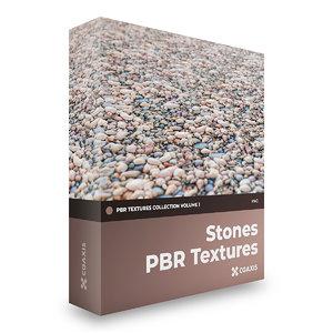 3D pbr volume 1 stones model