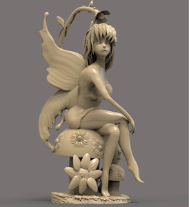 3D fairy sculpture