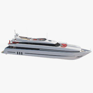 luxury super yacht 3D model