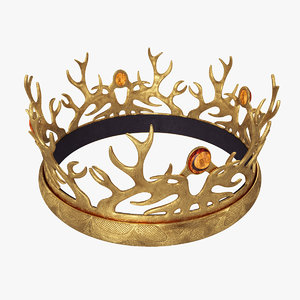 crown tommen baratheon 3D model