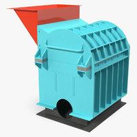 industrial grinder 3D model