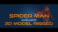 3D model spiderman homecoming
