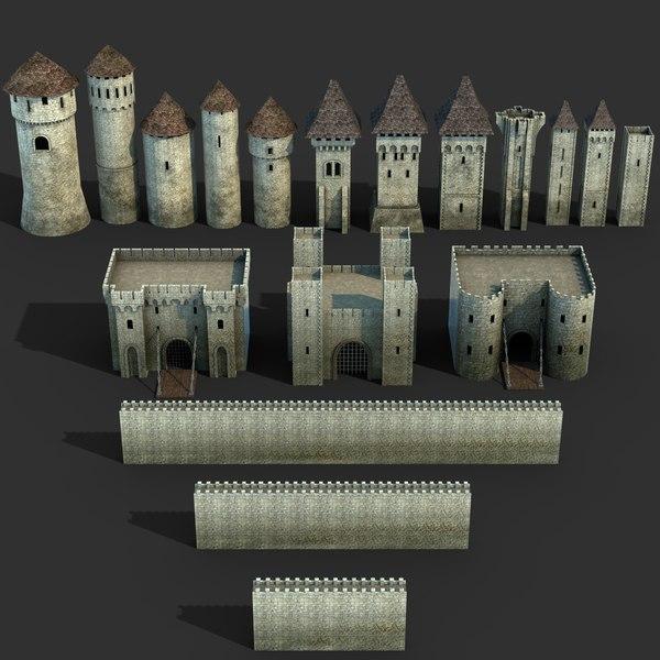 3D castle set