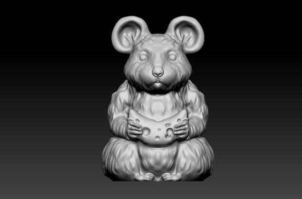 3D model mouse statue