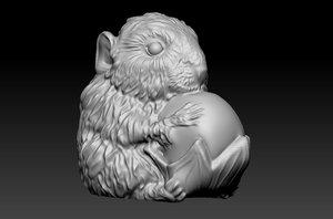 3D mouse statue model