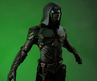3D character armored suit modern model