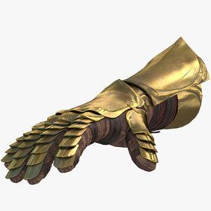 medieval glove 3D model