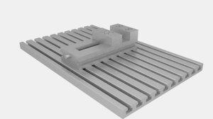 3D machine table model