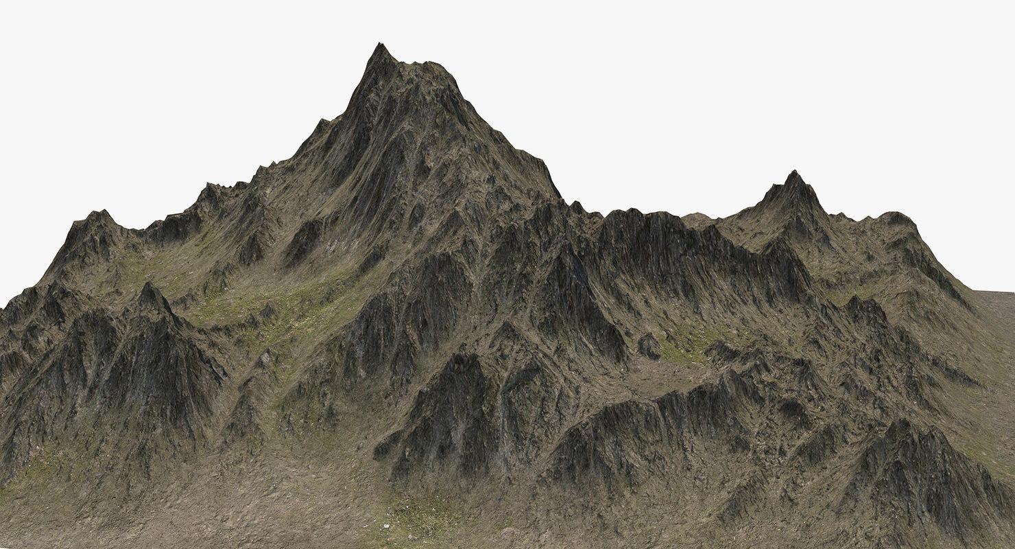 mountain peak landscape model