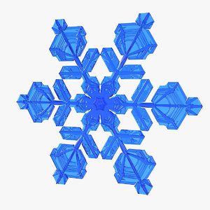 3D realistic snowflake 5