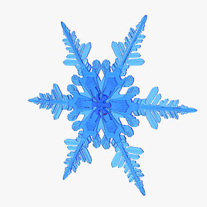 3D realistic snowflake 4