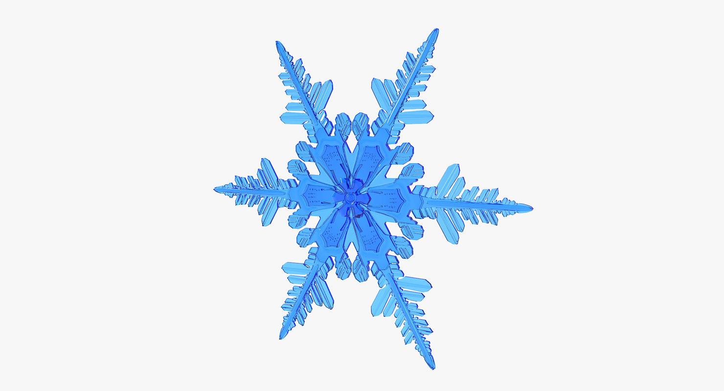 3D realistic snowflake 4