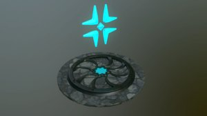 3D model metalness emission ready