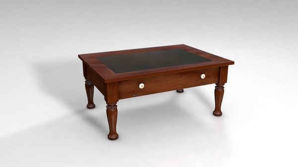 classic wood coffee table 3D model