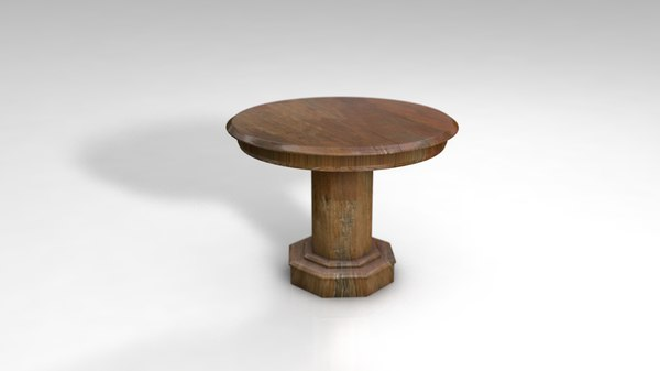 center table rustic wood 3D