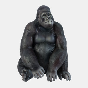 3D figurine gorilla 4