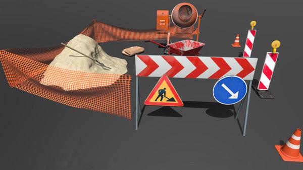 roadwork cement mixer 3D
