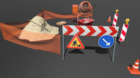 roadwork cement mixer 3D