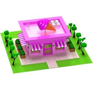 3D model cartoon icecream shop