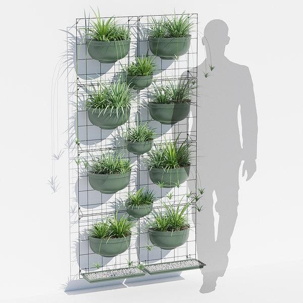 3D painel jardim vertical