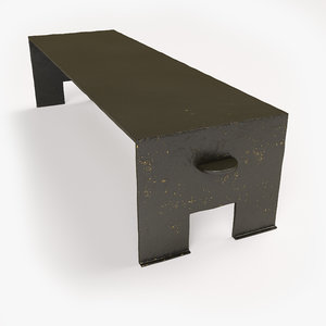 french coffee table christian 3D model
