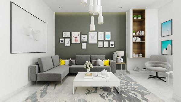 3D model livingroom p8 2