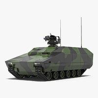 3D lynx ifv rigged model