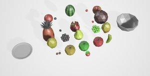 3D model fruit dragon pear