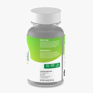 3D bottle pill