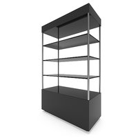 3D model showcase glass shelves exhibit