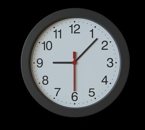 3D wall clock interior model