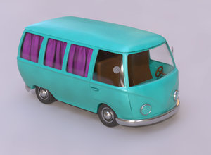van car cart 3D model