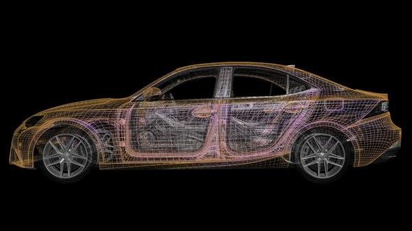 f sport car 3D model