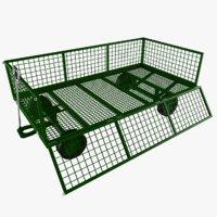 3D model baggage trailer