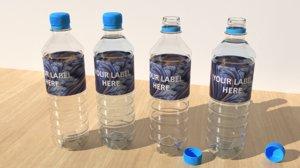 3D plastic water bottle model