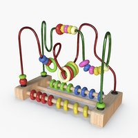 3D wire maze model