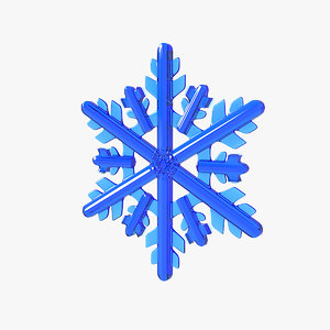 3D realistic snowflake 11