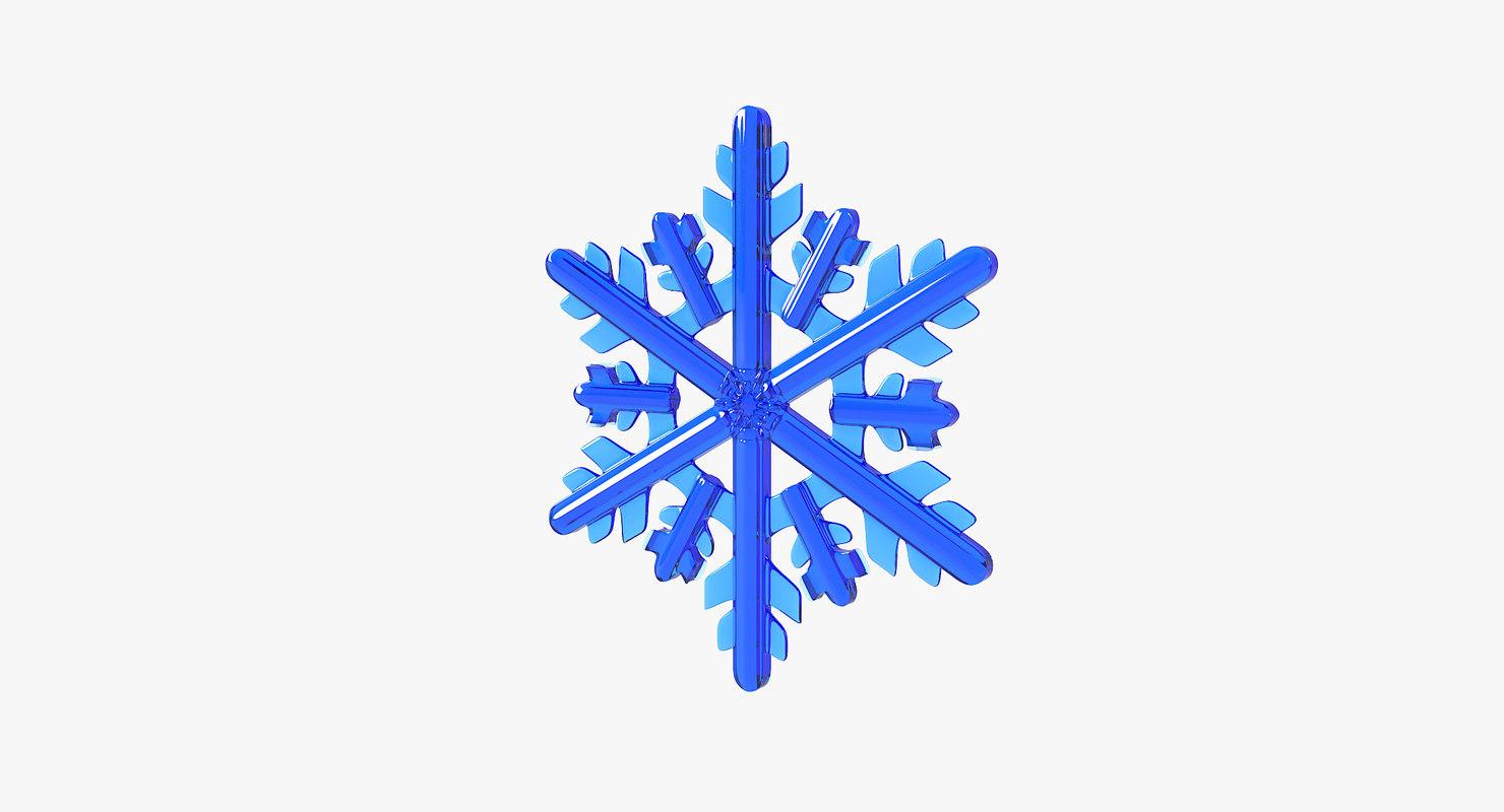 3D realistic snowflake 11