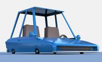 Cartoon car low poly